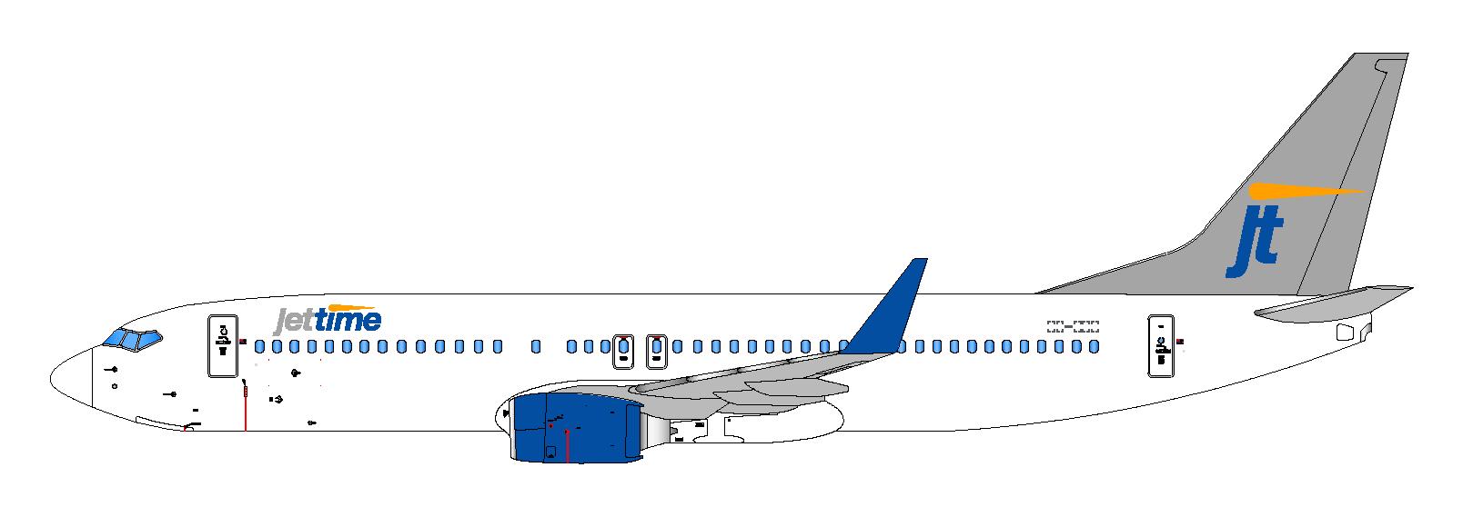 Boeing 737-800 tegning